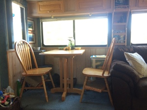 Our dining space is perfect for the two of us!  We also use it as an office space for writing, projects, etc.
